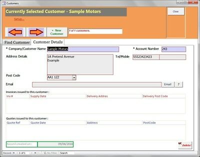 INVOICE QUOTE ESTIMATE Receipt Database Software Create - Create invoice receipt