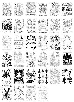 Woodware Clear Singles Stamps - Christmas 2018 - *NEW* - Choose - 150mm x 100mm
