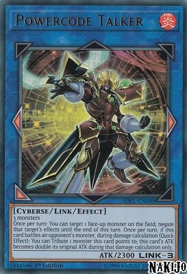 Yugioh - 1x Powercode Talker SDPL-EN040 Ultra Rare - 1st Ed - NM/M