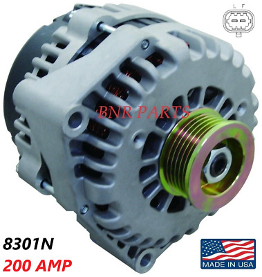 200 AMP 8301N Alternator High Output Chevy GMC Hummer Cadillac 2 pin NEW HD