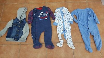 12-18months Baby Clothes Boys Bundle. Sleepers. Denim Jacket. Daddy's Wingman.