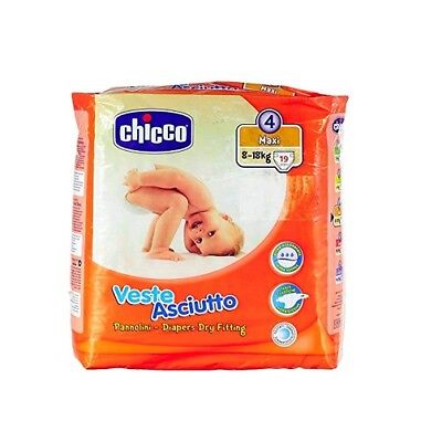Chicco veste asciutto Gr.4 19 Windeln 8-18 kg kinder baby diapers Packung
