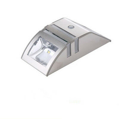 1Pcs Body Induction LED PIR Stainless Steel Aisle Stair Solar Wall Lamp