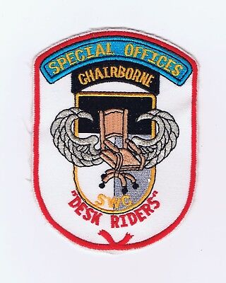 """Us Army Special Warfare Center, """"special Offices"""" Novelty Patch"""