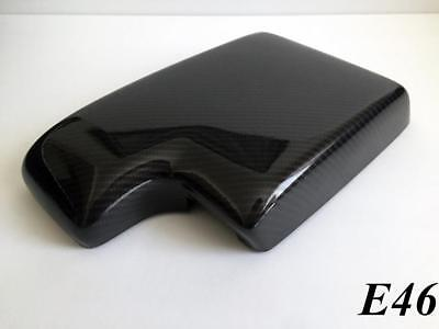 BMW E46 (1999-2006) Armrest/Center Console Cover (GLOSSY BLACK CARBON FIBER)