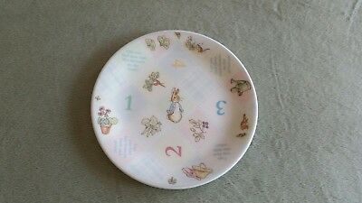 WEDGWOOD The World of Peter Rabbit 1-2-3 Child's Plate