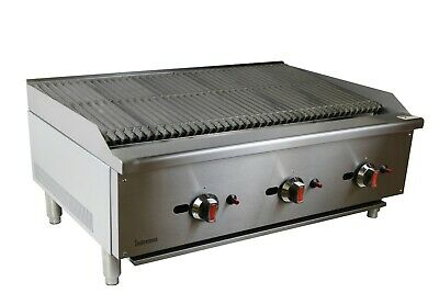 New Infernus US Style Gas Char Broiler 3 Burner Char Grill Catering 90cm