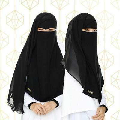 [Best Combo Deal] Premium Breathable 2 Layers Niqabs -  Niqab Qayla & Niqab Elma