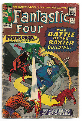 Fantastic Four #40 July 1965 Good (2.0)
