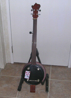 PRICE DROP  Handmade Cookie Tin Fretless 5 String Banjo...Player  One of a Kind