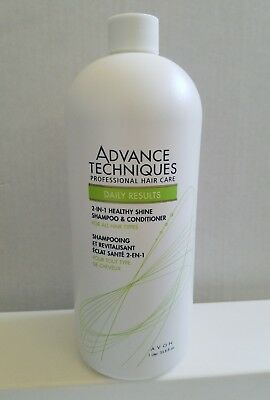 Avon Advanced Techniques Daily Results 2in1 Shampoo and Conditioner 33.8 oz New.