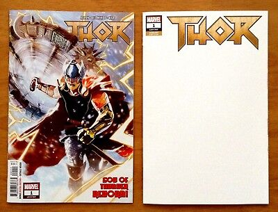 "Thor 1 Covers A + C Variant Mike Del Mundo  "" God of Thunder ""  Marvel 2018 NM+"