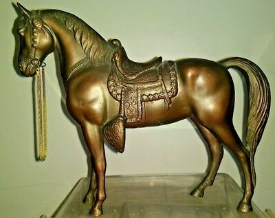 "Copper / Bronze Toned 3.2 Pounds Metal Horse Statue 9"" x 8"""