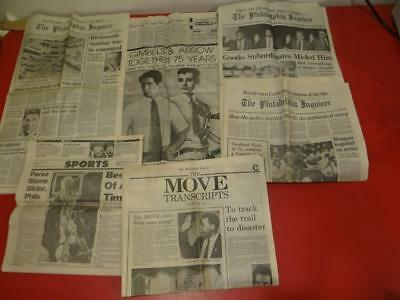 Lot Of Vintage 1980's Philadelphia Political & Historical Newspapers MOVE DR4741