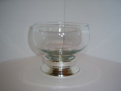 Vintage Cartier Sterling Glass Candy/Nut Dish!