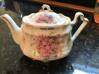 Fielder Keepsakes Fine Porcelain Teapot Hand Painted Delicate Flowers