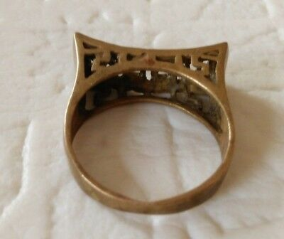 ancient antique roman legionary ring bronze artifact beautiful rare type