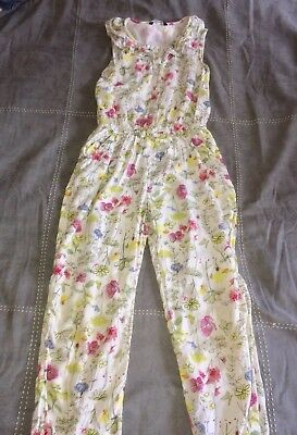 Girls Playsuit Full Length Age 8-9 Years Very Comfortable Floral All In One