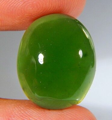 22 Ct Top Natural Green Emerald Color Serpentine Jade Oval Cabochon Gemstone A53
