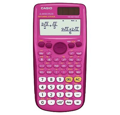New Casio FX-300ES Scientific Calculator - Pink