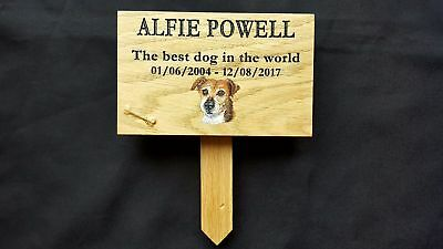 Oak Personalised Pet Memorial Sign Wooden Plaque RIP Sign For Dog Cat Horse