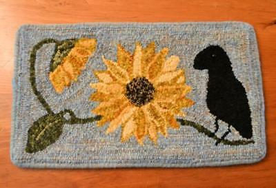 """10"""" x 18"""" Linen Hooked Rug Pattern - """"Summer in Paris""""  *PATTERN ONLY*"""