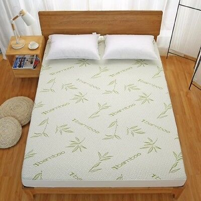 Bamboo Mattress Protector Hypoallergenic Waterproof Cover Pad