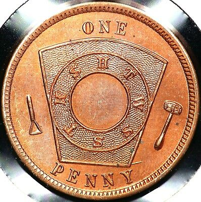 Chartered 1913 Chicago, Illinois Chapter No. 238 One Penny Masonic Token Red Unc