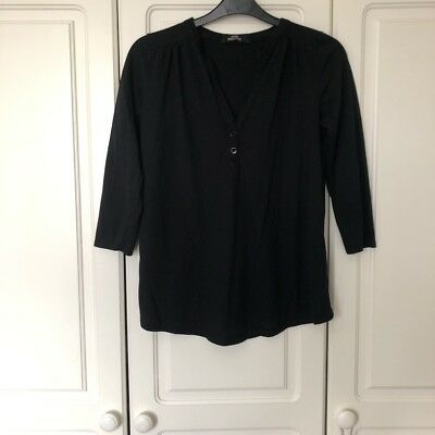d5c91a5ee2cb5d WOMENS BLACK MATERNITY Top/T-shirt Size UK 8 Asda George - £0.99 ...