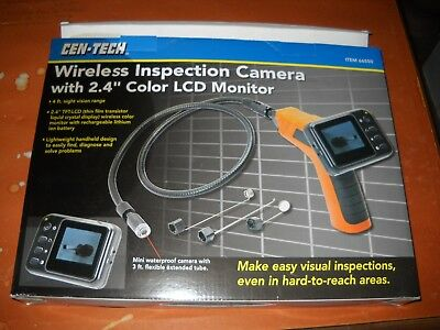 NIB Cen-Tech Wireless Inspection Camera w/2.4 Color LCD Monitor