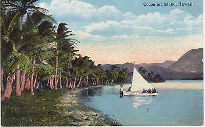 Cocoanut Island, Bay of Hilo, Hawaii c.1910 postcard         B