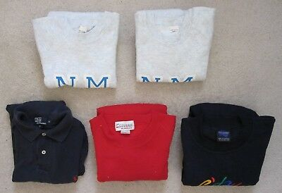 Lot of 5 SMALL Sweaters & Polo Collared Unisex Pre-Owned Used Washed Clean