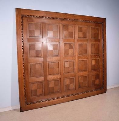 34 Feet of Inlaid Antique Boiserie/Paneling/Wainscoting in Oak Wood
