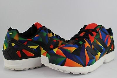 d89690832 Adidas ZX Flux Multicolor Prism Footwear White Core Black Red Size 9.5  S81651