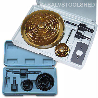 Hole Saw Set Holesaw Set Heat Treated Bits for Drill Plaster Timber Select Set
