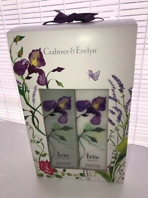 Crabtree & Evelyn IRIS Body Lotion Bath and Shower Gel Duo Boxed Set New in Box