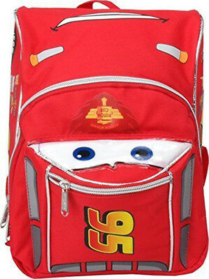 "Disney Cars McQueen Mini School Backpack 3D Shape 10"" Boys Book Bag"