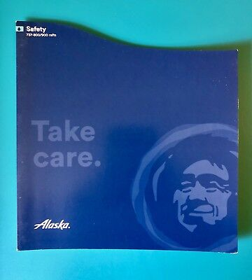 Newest Alaska Airlines Safety Card--737-800/900 With Rafts --New  Version--06/16