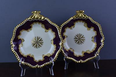 Fine Worcester Flight Barr & Barr Shell Shaped Dishes C.1825