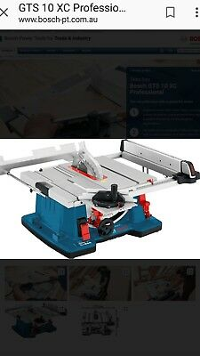 bosch GTS 10XC Table saw &GTA6000 stand