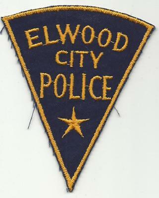 Elwood City ILLINOIS IL INDIANA IN Police patch OLD