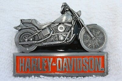 NEW Authentic Harley Davidson Siskiyou - Harmony, Made in USA 1993  Belt Buckle