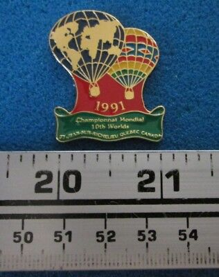 1991 St-Jean-Sur-Richelieu Championnat Montgolfière Hot- Air Balloon Pin # 7664