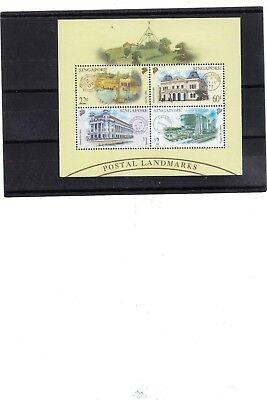 "Singapore, 1997, ""singapore Postal Landmarks"" S/s Mint Nh Fresh Good Condition"