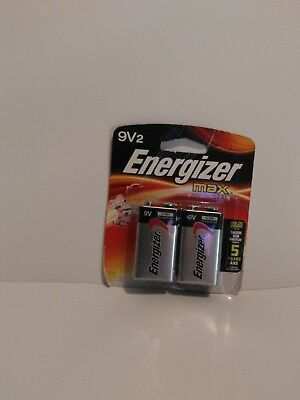 9v2 Energizer Batteries Max Powerseal - (2pack) EXP 12-2021 *NEW*