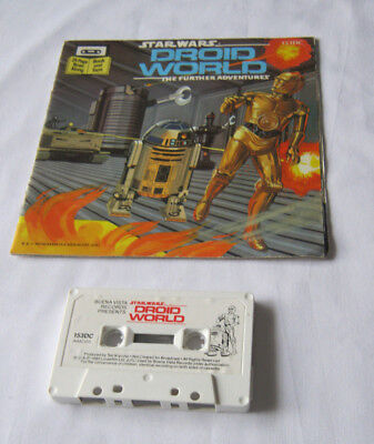 Star Wars Droid World read along book + cassette tape 1983 vintage
