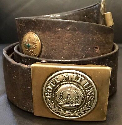 Imperial German, Prussian ( Pre-War ) Enlisted Man's Souvenir/Hate Belt & Buckle
