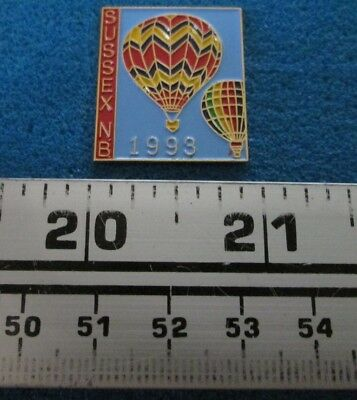 1993 Sussex N.b. Montgolfière Hot- Air Balloon Pin # 7687