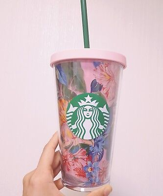 Starbucks Korea 2018 Sarbucks ban.do ban do flower pink coldcup 473ml