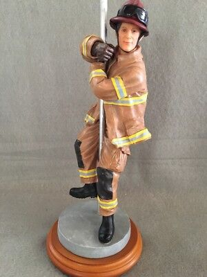"""Red Hats Of Courage Firefighter """"Time To Rescue"""" Vanmark Figurine 1st Edition"""